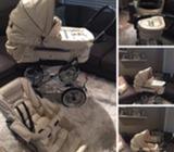 Emmaljunga Cream leather pram