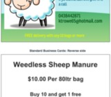 sheep manure for sale