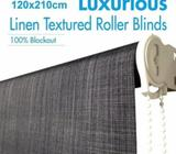 Polyester Blockout Roller Blinds Charcoal 120x210cm BRAND NEW