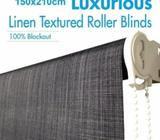 Polyester Blockout Roller Blinds Charcoal 150x210cm NEW