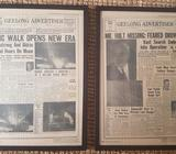 Historic front page newpaper, professionally framed
