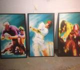 Sports Frames, Cricket, Rugby or Horse Racing 700mm W x 1200mm H