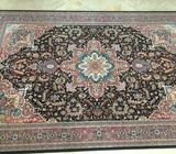 Artificial silk persian rug