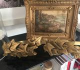 2 ornate metal gold tie backs for curtains $80 for both