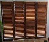 Timber shutters cedar