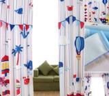 Childrens Nautical theme curtains