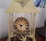 GORGEOUS LARGE CAGE CLOCK