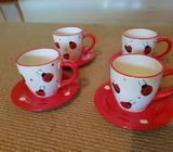 Ladybird mugs and saucers