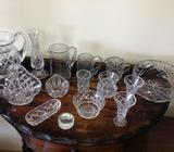 15 pieces of mixed Crystal items. $125