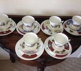 Set of 6 cups,6 saucers & 6 plates. $60