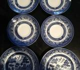 Tea Indian blue saucers