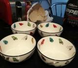 Set of 4 bowls NEW
