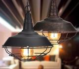 2 x Retro Industrial Iron Vintage Ceiling light Chandelier