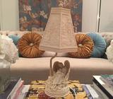 Angel lamp with figurine base