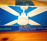 New Delta 4Blade 120cm Ceiling Fan with Oyster light Can Deliver!