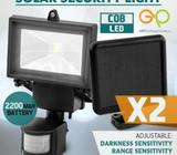 2x G&P Solar Sensor Light COB LED Outdoor SMG 12MTH WTY