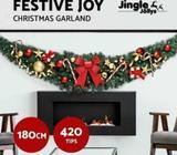 Jingle Jollys Christmas Tree 1.8/2.1/2.4/2.7M Xmas Decoration Green