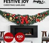 Jingle Jollys 180CM 6FT Christmas Decoration Garlands Home House Decro