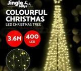 Jingle Jollys 3.6M LED Christmas Tree Lights 360pc LED White Warm
