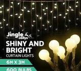 Jingle Jollys 3mx3/6m 300/600 LED Christmas Curtain Fairy Lights Bulbs
