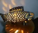 FISH TABLE LAMP CLAY