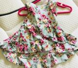Floral dresses size 12 months and 18 months