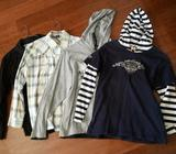 2 boys Long sleeve shirts 2 boys pullovers altogether for $25