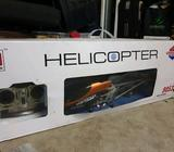 Flying helicopter remote controlled