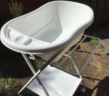 Baby bath with stand and infant insert