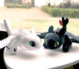 JUMBO Pair of How to Train Your Dragon Toothless Night Fury Plush