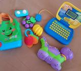 Toys in great condition: Vtech alphabet dino, Fisher price& more