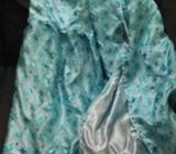 FROZEN kids costume Elisa Satin Glitter Suit about 7-10