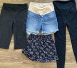 Maternity shorts/leggings x4