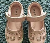 Girls pink butterfly shoes - size 5