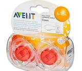 Philips Avent 6-18Mths Red Translucent Soother Dummies Brand New!