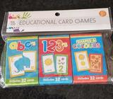 Educational childrens card games