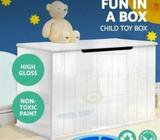 High Gloss Toy Box Chest Storage Drawer Bench Children Clothes