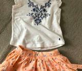 Little girls Lee cooper tshirt and skirt - size 3