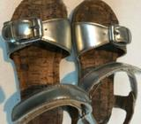 Little girls Country road silver cork sandals size 27