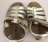 2 pairs of Walnut and seed girls sandals