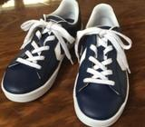 CONVERSE All Star Navy LEATHER Sneaker SHOES Youths /Womens US3 EUR35