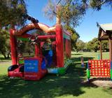 Pirate bouncy castle and outdoor games
