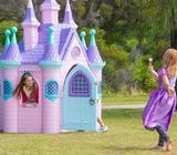 Plastic Princess Castle Cubby Super Palace Pink Girls CIndy House