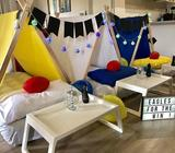 Footy themed Slumber Party Hire