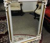Brass Antique Victorian Ornate Heavy Mirror in great condition