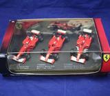 1-43 Hotwheels 3 car set Michael Schumacher Ferraris 2000-2002NOS