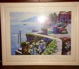 NEW Large Beautiful Colourful Framed Print of Lake Como