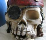 9CM SMOKING SKULL MONEY BOX - DESK OR BOOKSHELF ORNAMENT